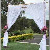 Wedding- lace arbour with fresh flowers - Headland Golf Club