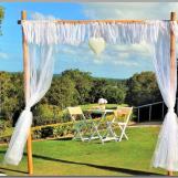 Wedding lace arbour with heart - Headland Golf Club