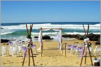 Wedding-Arbour and bamboo teepee setting - Yaroomba Beach