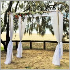 Wedding arbour with fresh flowers - Hidden Grove Noosa