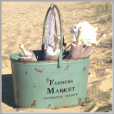 Farmers market bucket.
