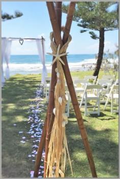 Wedding-Bamboo teepee - Shelly Beach