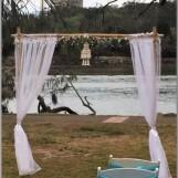 Wedding arbour - shell chandelier