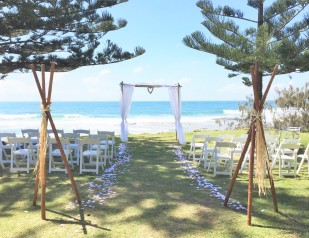 Arbour and teepee setting - Shelly Beach