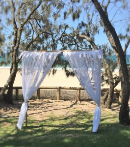 Lace wedding arbour - Hidden Grove